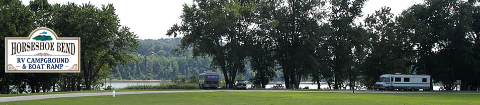 Horseshoe Bend RV Campground & Boat Ramp on the Ohio River at Leavenworth, Indiana