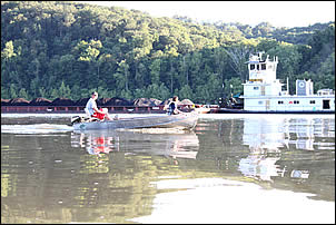 boating on the Cannelton Pool of the Ohio River