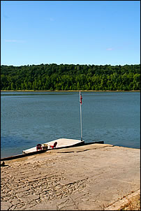 boat ramp on the Ohio River